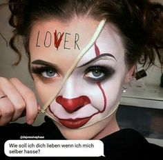 Make-up Wedding Invitations: Proper Invitation Etiquette Article Body: With all the expenses typical Zipper Halloween Makeup, Zipper Face Makeup, Amazing Halloween Makeup, Yeux Halloween, Looks Halloween, Scary Halloween Costumes, Scary Face Paint, Helloween Make Up, Scary Clown Makeup