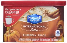 Maxwell House - International Latte (Pumpkin Spice) (Pack of >>> Check out the image by visiting the link. Maxwell House Coffee, International Coffee, Cafe Style, Pumpkin Spice Latte, Mixed Drinks, Drinking Tea, Gourmet Recipes, Beverages, Spices