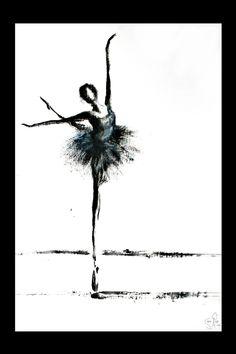 Ballet by stenkaka on DeviantArt Art Painting, Art Photography, Ink Art, Drawings, Dance Art, Dancers Art, Ballet Painting, Ballerina Wall Art, Ballet Drawings