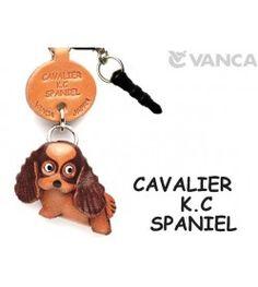 Cavalier K.C Spaniel Leather Dog Earphone Jack Accessory