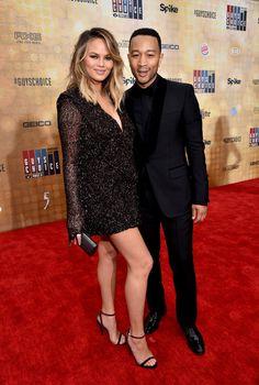 "Chrissy Teigen Photos - Model Chrissy Teigen (L) and recording artist John Legend attend Spike TV's ""Guys Choice 2016"" at Sony Pictures Studios on June 4, 2016 in Culver City, California. - Spike TV's 'Guys Choice 2016' - Red Carpet"
