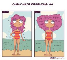 I Illustrated What It's Like Living With Curly Hair