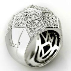 Looxe - Anello in oro bianco con diamanti.