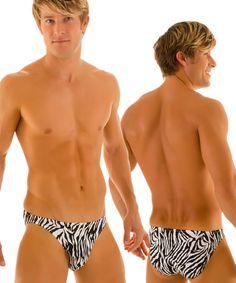 1f25abaec2 Mens Bikini Brief Swimsuit in Stone Zebra http://www.skinzwear.com