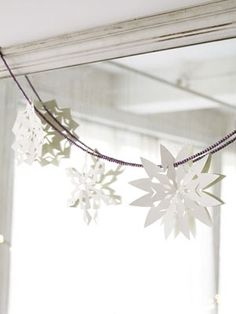 Paper snowflakes #banner