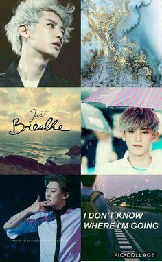 Made by kpop_lover Park Chanyeol, Sehun, Greek Mythology, My Photos, Kpop, Wallpaper, Got7, Collages, Korea