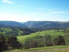 Mokelumne Hill, Ca. Feb. 2015. View from Mokelumne Hill, of the Mokelumne River Canyon.