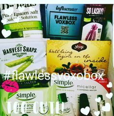 My #flawlessvoxbox from @influenster and @bustle arrived this afternoon! I'm so excited about trying out all these great products provided for free!! Loved playing with the in app photo booth!  @drteals @simpleskincare @sinfulcolors_official @harvestsnaps @yogitea @covergirl @helloproducts  #soakwithdrteals #harvestsnapslove #yogiteaunwind #makeup4makeup #sinfulcolors #solashy #choosefriendly #beautybox #productreview #reviewer #goodies #voxbox #influenster