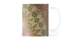 mug with the close up of an artistic stylish backdrop with radial red, white and green geometric abstract pattern, in the style of a mosaic / Copyright: Escarpatte White Patterns, Abstract Pattern, Red Green, Red And White, Backdrops, Mosaic, Cool Designs, Finding Yourself, Traditional