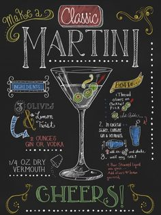 Martini by Fiona StokesGilbert is part of Cocktails - Martini by Fiona StokesGilbert This Martini Fine Art Print and related works can be found at FulcrumGallery com Cuba Libre Cocktail, Tequila Sunrise, Lettering, Chalkboard Art, Special Recipes, Mojito, Eyeshadow Makeup, Bartender, Alcoholic Drinks