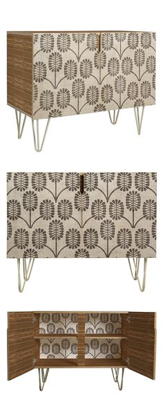 Has 1960s-style décor always been this fun? Indeed, the Merriman Credenza sure conjures up some nostalgia. Why settle for mundane furnishings when you can go for whimsical Art Deco in an earthy palette...  Find the Merriman Credenza, as seen in the Happy Hibernating Collection at http://dotandbo.com/collections/happy-hibernating?utm_source=pinterest&utm_medium=organic&db_sku=116038