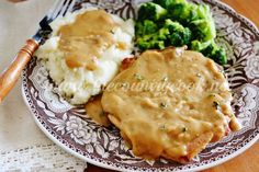 Pork chops and soup combine in a slow cooker for a dinner to remember