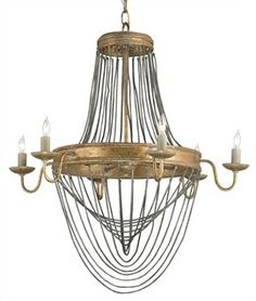 the aragon chandelier is part of a line in restoration warehouse
