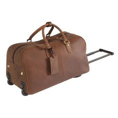 Leather & Canvas Flight Trolley Bag