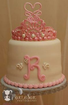 This is the cake! Except gonna alter the crowns look for #Sadies baby shower. #PrincessAndPearls