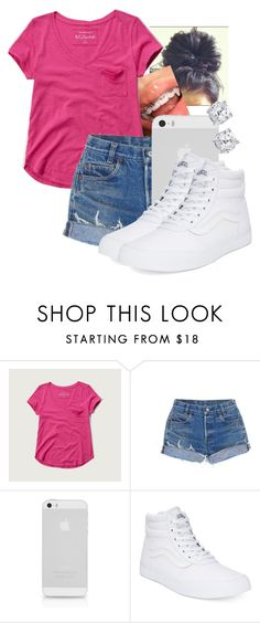 """""""Untitled #410"""" by msfts-rep ❤ liked on Polyvore featuring Abercrombie & Fitch, Levi's and Vans"""