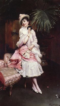 Raimundo de Madrazo y Garreta 1841-1920 lady with a mask