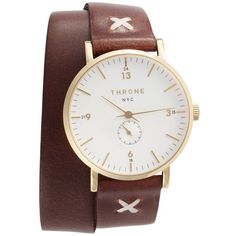 Women's Throne 1.0 Leather Wrap Strap Watch, 36Mm (22.495 RUB) ❤ liked on Polyvore featuring jewelry, watches, leather-strap watches, military style watches, dial watches, military wrist watch and military watches