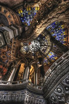 peaceful eye | antes88: stained glass ceiling with wild...