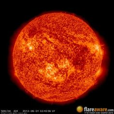 The hourly sun (at 03:45 am  UTC on  1 June 2013)