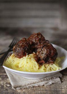 Spaghetti Squash Pasta withMeatballs