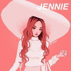 Moon 🍒 on in 2019 blackpink blackpink, art, kpop drawings Kpop Drawings, Cute Drawings, Kpop Anime, Character Art, Character Design, Black Pink Kpop, Kim Jisoo, Fan Art, Jennie Blackpink