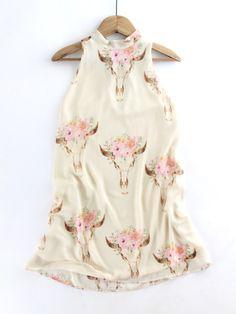 Floral Skull Print Dress
