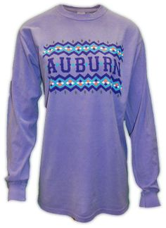 Tribal Auburn Long Sleeve Comfort Colors | Auburn University Apparel by Tiger Rags