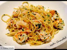 Pasta, Ethnic Recipes, Food, Mousse, Table, Chocolates, Prawn Food, Shrimp Spaghetti, Lasagna