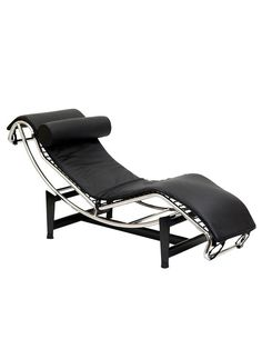 Sleigh Leather Chaise