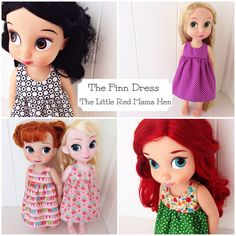 The+Finn+Dress+Custom+Doll+Dress+for+Disney+by+TheLittleRedMamaHen,+$14.00