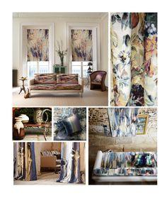 Boeme art interior Fabrics, beautiful neutrals in linen and velvets. www.boeme.co.uk