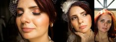 Maquiagem de tons alaranjados para casamento diurno. Tema: circo vintage.