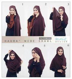 Scarf Wearing Styles, Maxi Dress Tutorials, Muslim Hijab, Hijab Tutorial, Hijab Dress, Muslim Girls, Hijab Fashion, Designer Dresses, Shawl