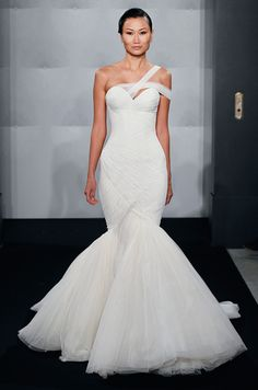 Trumpet bottom wedding dress from Mark Zunino, Fall 2013