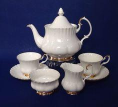 A personal favorite from my Etsy shop https://www.etsy.com/ca/listing/271012340/royal-albert-val-dor-tea-set-bone-china