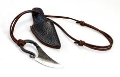 Forged Viking neck knife 02 M-Neck Fi-Eis by PeraPeris on Etsy
