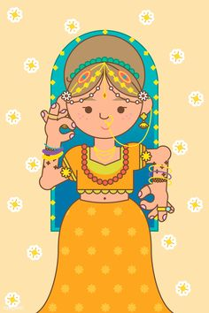 The goddess Lakshmi Diwali festival background vector | premium image by rawpixel.com / Techi