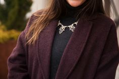 Oversized Outerwear - @Topshop coat, @David Wheeler turtleneck, @BaubleBar necklace