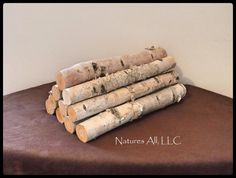 Decorative White Birch Fireplace Logs/10 Piece Set/16 Inch Lengths Log 10, Birch Logs, Fireplace Logs, Hearth, Christmas Decorations, Wood, Home Decor, Products, Log Burner