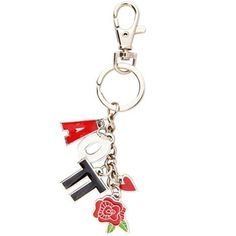 Alpha Omicron Pi Sorority Charm Keychain $8.25 #Greek #Sorority #Accessories #AOPi #AOII #AlphaOmicronPi #Rose #KeyChain