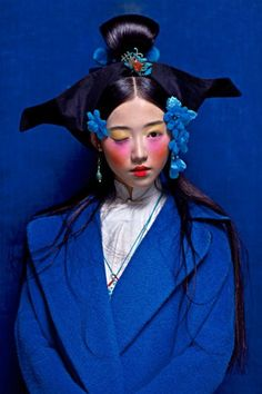 Chen Man Chinese colors - Blue