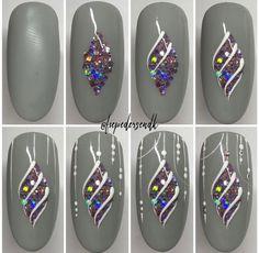 Semi-permanent varnish, false nails, patches: which manicure to choose? - My Nails Xmas Nail Art, Christmas Nail Art Designs, Xmas Nails, Holiday Nails, Christmas Nails, Fancy Nails, Cute Nails, Pretty Nails, Nail Art Hacks
