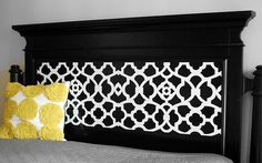 painted & stenciled headboard