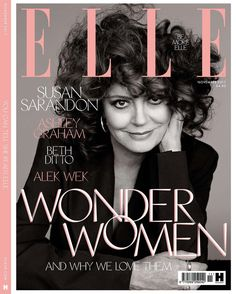 Susan Sarandon, Elle UK Cover, November 2017