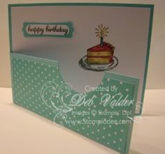 By Deb Valder from www.stampladee.com Sketched Birthday with a Fancy Fold ♥