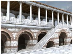 Byzantium 1200 is a project aimed at creating computer reconstructions of the Byzantine Monuments located in Istanbul, TURKEY as of year 1200 AD Byzantine Architecture, Classical Architecture, Historical Architecture, Ancient Architecture, Art And Architecture, Ancient World History, Art History, Istanbul, Roman City