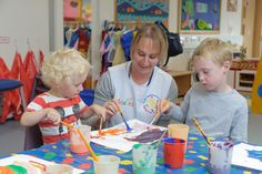 This is a picture of colourful activities doing by children and teacher. This activities help the children to have fun, create different things and helps them to settle in in a nursery.