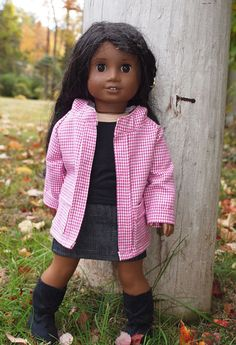 18 inch Doll Clothes will fit The American Girl Doll - Girl Doll Clothes - Jacket with Hood - Skirt  - Top