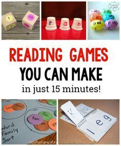 , 10 DIY Reading games for kids - The Measured Mom , These fun reading games are quick to make - and so effective for learners in kindergarten and first grade! Such a great addition to your language arts. Reading Games For Kindergarten, Learning To Read Games, Reading Games For Kids, Games For Toddlers, Preschool Kindergarten, Reading Activities, Art Games For Kids, Preschool Learning, Kids Sight Words